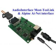 Adapteris garso  BMW MOST (Optical) -> TosLink (OUT)  garso procesorio pajungimui