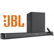 JBL Bar 2.1 TV garso sistema soudbaras su belaidžiu žemųjų dažnių garsiakalbiu.