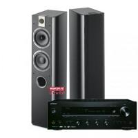 Stereo komplektas stiprintuvas ONKYO TX-8270 galingumas  2x190W su kolonėlėm Focal Chorus 716