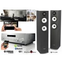 Stereo komplektas Yamaha  R-N3003 tinklo grotuvas su Pylon Audio Pearl 25 grindinėmis kolonėlėmis. Nemokas pristatymas.