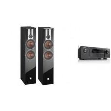 Stereo komplektas stiprintuvas DENON AVR-X3400 + DALI OPTICON 6 kolonėlėmis
