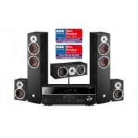 Namų kino 5.0  komplektas Yamaha RX-V483   su kolonėlėmis  Dali SPEKTOR 6/1/VOKAL