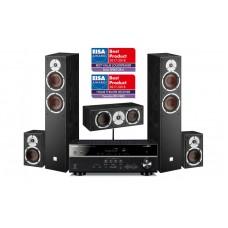 Namų kino 5.0  komplektas Yamaha RX-V485 su kolonėlėmis  Dali SPEKTOR 6/1/VOKAL