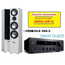 Canton GLE 496.2 su Onkyo TX-8270 stereo garso sistema  #Nemokamas pristatymas