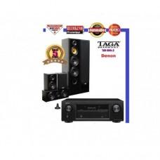 Namų kino 5.0  komplektas Tga Harmony  TAV-606 SE su namų kino stiprintuvu Denon AVR-X550BT 5.2 HD