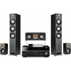 Namų kino komplektas stiprintuvas Denon AVR-X2400H + Jamo Studio S809 HCS kolonėlėmis