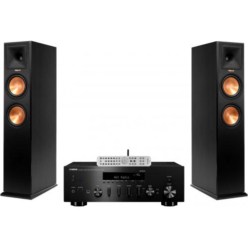 stereo komplektas yamaha r n803d klipsch reference rp. Black Bedroom Furniture Sets. Home Design Ideas