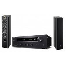Stereo komplektas stiprintuvas ONKYO TX-8270 galingumas 2x190W su kolonėlėm Focal Chorus 726