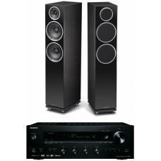 Stereo komplektas WHARFEDALE Diamond 230 su Stiprintuvu Onkyo TX-8150 AirPlay ,USB, WiFi, Bluetooth , interneto radijas