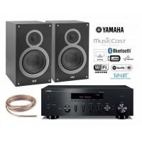 Stereo komplektas Yamaha R-N602  ir  ELAC DEBUT B6 lentyninėm kolonėlėm