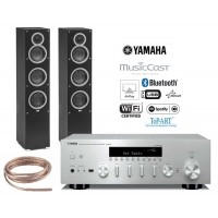 Stereo komplektas Yamaha R-N602  su ELAC  Debut  F5  grindinėm kolonėlėm