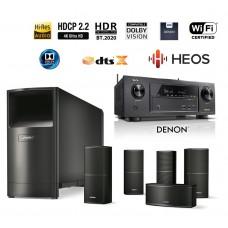 Namų kino komplektas Denon AVR-X1400H  kartu su  namų kino kolonėlių sistema Bose ACOUSTIMAS 10V