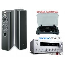 Stereo komplektas stiprintuvas ONKYO TX-8270 galingumas  2x190W su kolonėlėm Focal Chorus 716 +DOVANA PATEFONAS !