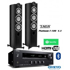 Stereo garso sistema Taga Harmony PLatinum F-100 V.3 su stiprintuvu Onkyo Tx-8270
