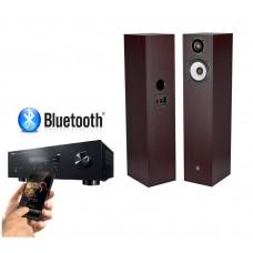 Stereo komplektas Yamaha R-S202 ir   Pylon Audio Pearl 20  grindinės garso kolonėlės