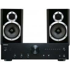 Stereo komplektas stiprintuvas Onkyo A-9010 su kolonėlėm Wharfendale Diamond 220