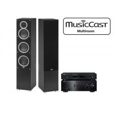 Stereo komplektas Yamaha  A-S701 + NP-S303 + kolonėlės  ELAC DEBUT F5