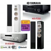 Stereo Komplektas Yamaha  R-N303  su Kolonėlėmis Yamaha NS-F350