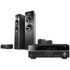 Namų kino  komplektas  YAMAHA RXV 485 su NS-F51 ir NS-P51 juoda spalva + nemokamas pristatymas ir konsultacijos !