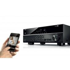 Namų kino resyveris Yamaha RX-V385 5.1 kanalai 150W  USB,  Bluetooth , 3D palaikimnas , DHCP 2,2 , HDR10 video , mikrafonas kambario suderinimui .