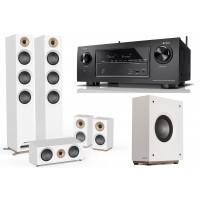 Namų kino komplektas stiprintuvas DENON AVR-X2500H + JAMO Studio  S809 HCS+ S810 kolonėlėmis 5.1