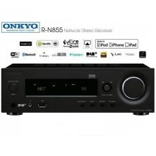 Onkyo N-R855  kompaktiškas stereo stiprintuvas tinklo grotuvas , USB , Bluetooth , interneto radijas ,Spotify , AirPlay