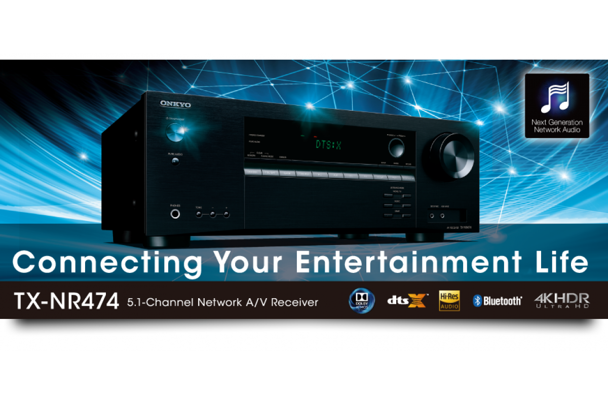 ONKYO TX-NR474 5.1 namų kino stiprintuvas 7x135W Dolby Atmos ...